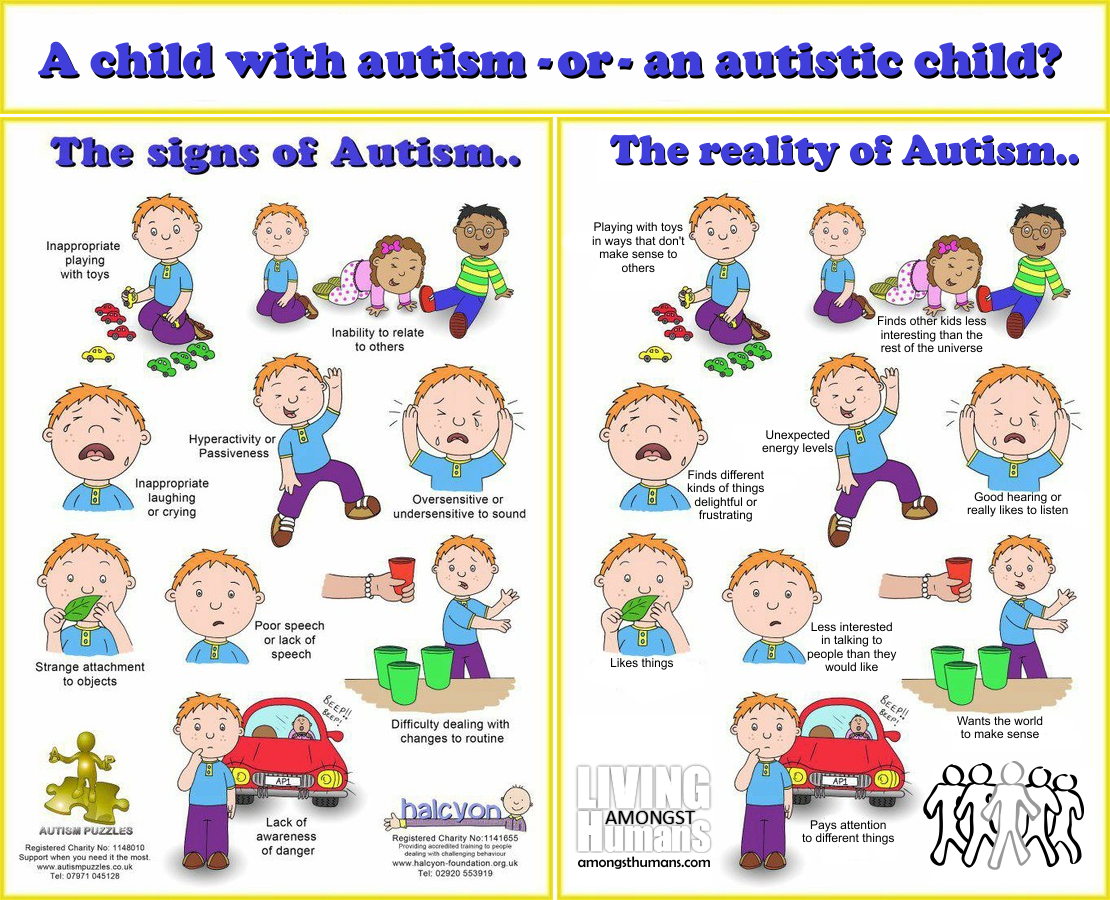 "based on graphic produced by, for or associated with ""autism puzzles"" and ""halcyon"", source unknown"