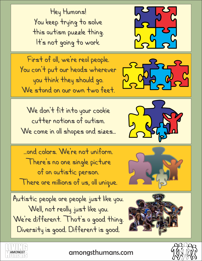 Infographic showing the limitations of the autism puzzle