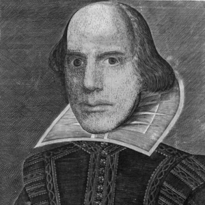 "derived from <a href=""https://commons.wikimedia.org/wiki/File:Shakespeare_Droeshout_1623.jpg"">""Shakespeare Droeshout 1623""</a> by Martin Droeshout, used under <a href=""https://commons.wikimedia.org/wiki/Commons:Reuse_of_PD-Art_photographs"">Commons:Reuse of PD-Art photographs</a>"