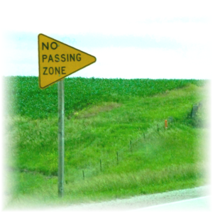 "derived from <a href=""https://www.flickr.com/photos/pandora_6666/3649859916"">no passing zone (1 of 1)</a> by Jo Naylor/flickr, used under <a href=""https://creativecommons.org/licenses/by/2.0/"">creative commons by 2.0</a>"